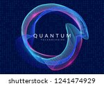 quantum computing background.... | Shutterstock .eps vector #1241474929