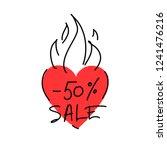 illustration of a flaming heart ...   Shutterstock .eps vector #1241476216