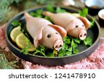 stuffed squids in the form of... | Shutterstock . vector #1241478910