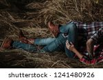 camping couple. passionate... | Shutterstock . vector #1241480926