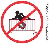 do not climb crowd control...   Shutterstock .eps vector #1241499559