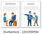 job interview and dismissal of... | Shutterstock .eps vector #1241500936