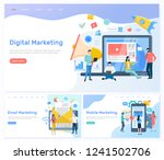 digital and email  mobile... | Shutterstock .eps vector #1241502706