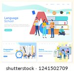 language school  preparation... | Shutterstock .eps vector #1241502709