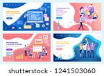 collaboration  business... | Shutterstock .eps vector #1241503060