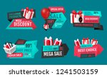 mega discount  exclusive... | Shutterstock .eps vector #1241503159