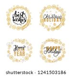 best wishes  happy new year and ... | Shutterstock .eps vector #1241503186