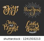 joys  new year  merry and... | Shutterstock .eps vector #1241503213