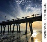 beautiful beach sunset of... | Shutterstock . vector #1241503933