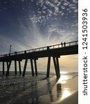 beautiful beach sunset of... | Shutterstock . vector #1241503936
