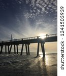 beautiful beach sunset of... | Shutterstock . vector #1241503939