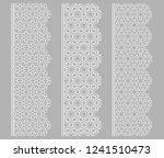vector set of line borders with ... | Shutterstock .eps vector #1241510473