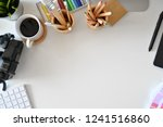 artist creative workspace with... | Shutterstock . vector #1241516860