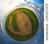 little planet spherical... | Shutterstock . vector #1241517679