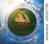 little planet spherical... | Shutterstock . vector #1241517790