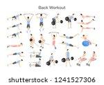 big set of people doing... | Shutterstock .eps vector #1241527306
