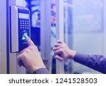 staff push down electronic... | Shutterstock . vector #1241528503