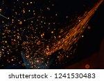 light from cutting steel    Shutterstock . vector #1241530483