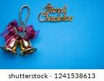 merry christmas sign against...   Shutterstock . vector #1241538613