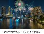 fantastic multicolor firework... | Shutterstock . vector #1241541469