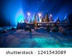 miniature of winter scene with... | Shutterstock . vector #1241543089