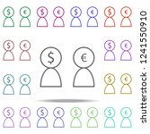 users dollar euro icon.... | Shutterstock .eps vector #1241550910