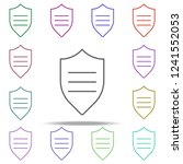 shield protection icon.... | Shutterstock .eps vector #1241552053