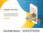 online roadside assistance... | Shutterstock .eps vector #1241574520