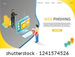 web phishing landing page...   Shutterstock .eps vector #1241574526