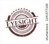 red eyesight distressed rubber... | Shutterstock .eps vector #1241577100