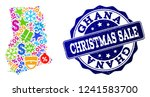 christmas sale collage of... | Shutterstock .eps vector #1241583700