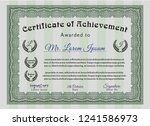 green certificate of... | Shutterstock .eps vector #1241586973