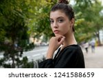 portrait of young pretty... | Shutterstock . vector #1241588659