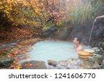 happy young asian traveler... | Shutterstock . vector #1241606770