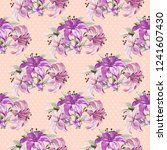 seamless floral pattern with... | Shutterstock .eps vector #1241607430