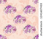 seamless floral pattern with... | Shutterstock .eps vector #1241607433