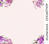 seamless floral pattern with... | Shutterstock .eps vector #1241607439