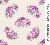 seamless floral pattern with... | Shutterstock .eps vector #1241607460