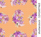 seamless floral pattern with... | Shutterstock .eps vector #1241607463