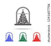 christmas eve concept on whe... | Shutterstock .eps vector #1241607706