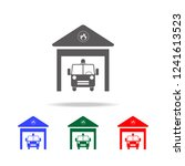 fire station icon. elements of... | Shutterstock .eps vector #1241613523