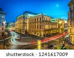 vienna state opera at night ... | Shutterstock . vector #1241617009