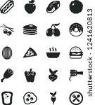 solid black vector icon set  ...   Shutterstock .eps vector #1241620813
