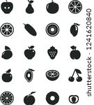 solid black vector icon set  ... | Shutterstock .eps vector #1241620840