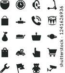 solid black vector icon set  ... | Shutterstock .eps vector #1241626936