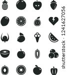 solid black vector icon set  ... | Shutterstock .eps vector #1241627056