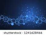 abstract medical background dna ... | Shutterstock .eps vector #1241628466