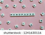 menopause word made of square... | Shutterstock . vector #1241630116
