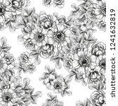 flower print in bright colors.... | Shutterstock .eps vector #1241632819