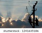 Silhouette  Power Lineman Use...